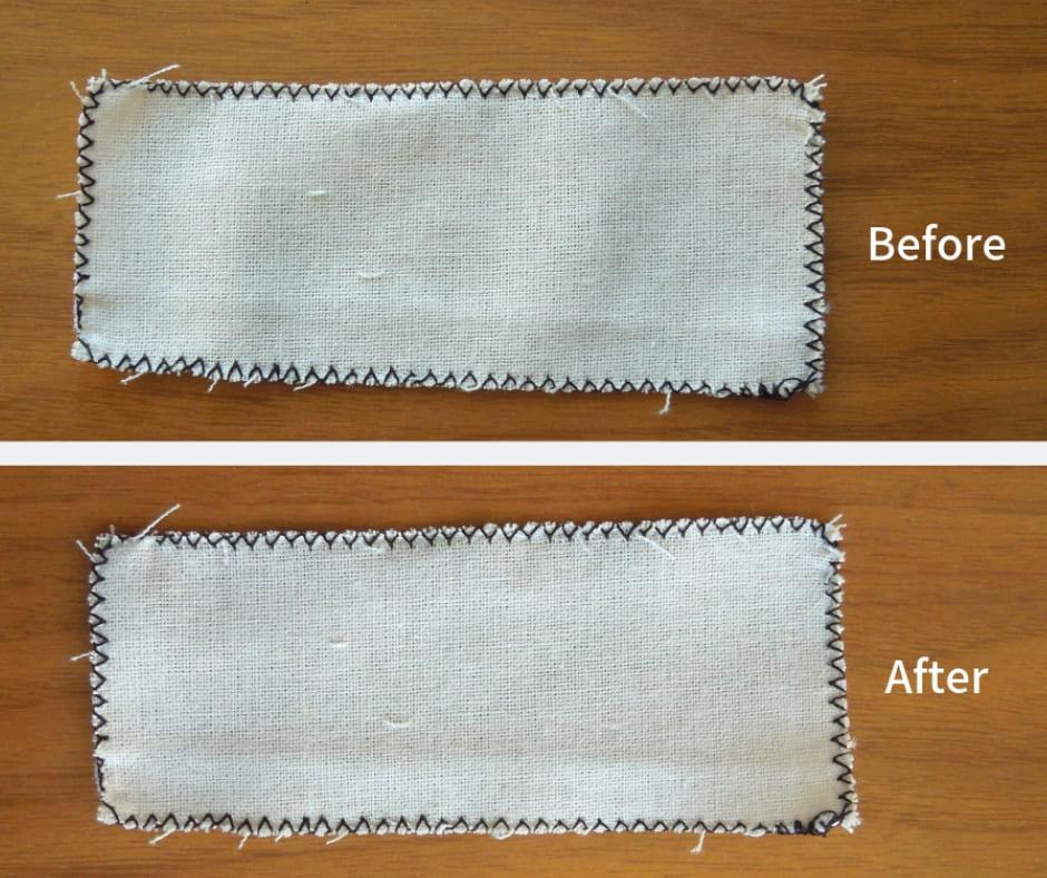 ジグザグ縫い比較画像