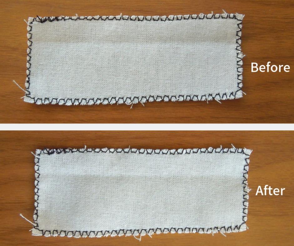裁ち目かがり縫い比較画像