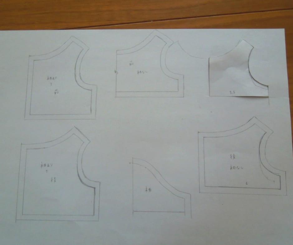 手描き型紙