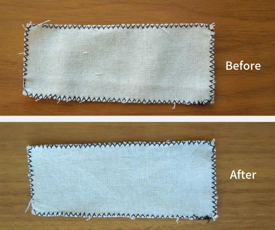 ジグザグ縫い洗濯後比較画像