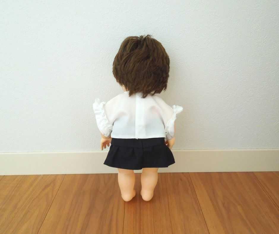 ぽぽちゃん 袖フリルTシャツ(後ろ)