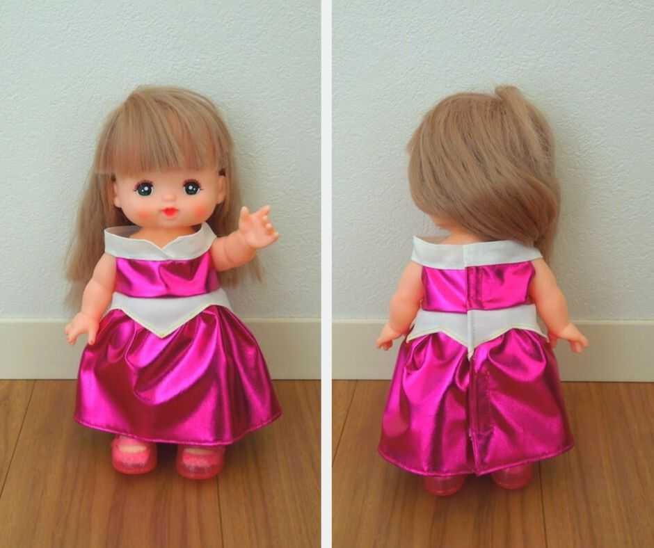 メルちゃんオーロラ姫風ドレス