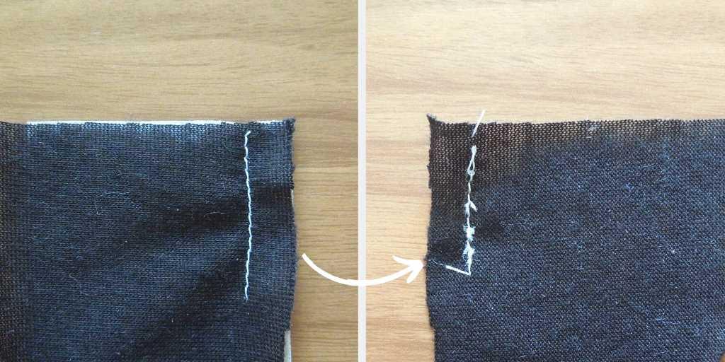 ティッシュを敷いて縫う