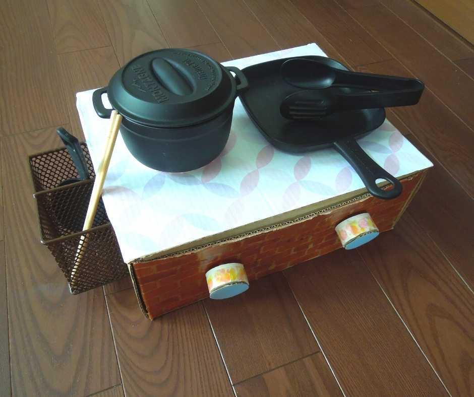 道具を置いたキッチン