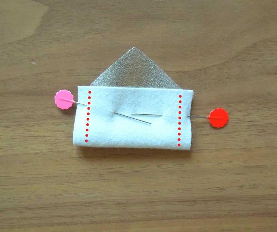 バッグ本体のサイドを縫う