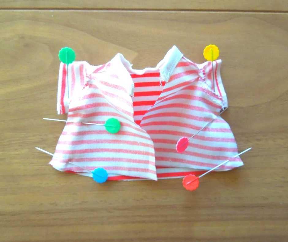 イーマリーサイズのTシャツワンピース 身頃のサイドを縫う