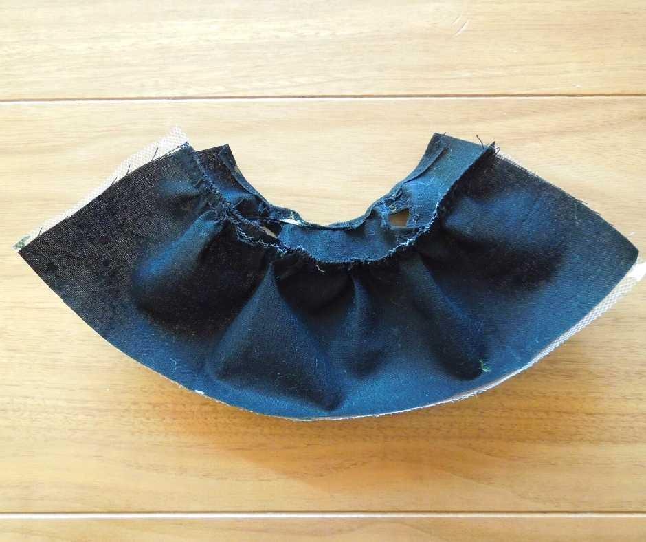 イーマリーサイズの胸下切り替えワンピース 身頃とスカートを縫って繋げる
