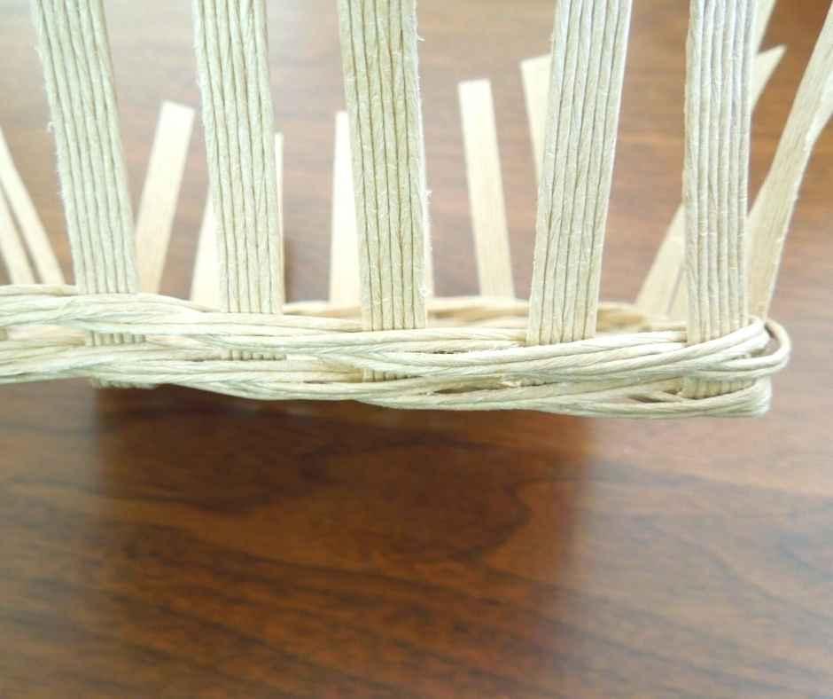 ダイソーペーパークラフトバンドキット パーツを編む