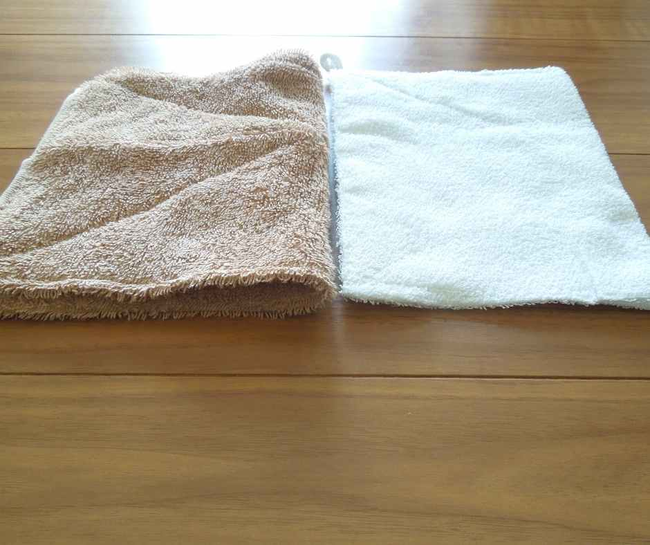 手作りと100均の雑巾を比較