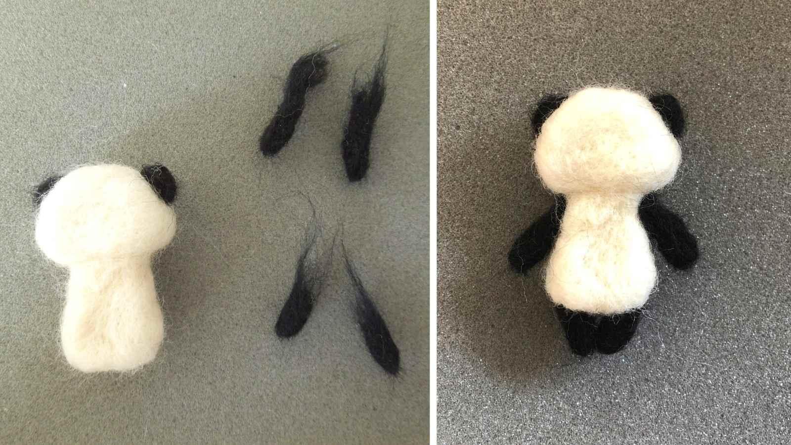 羊毛フェルト パーツを繋げる