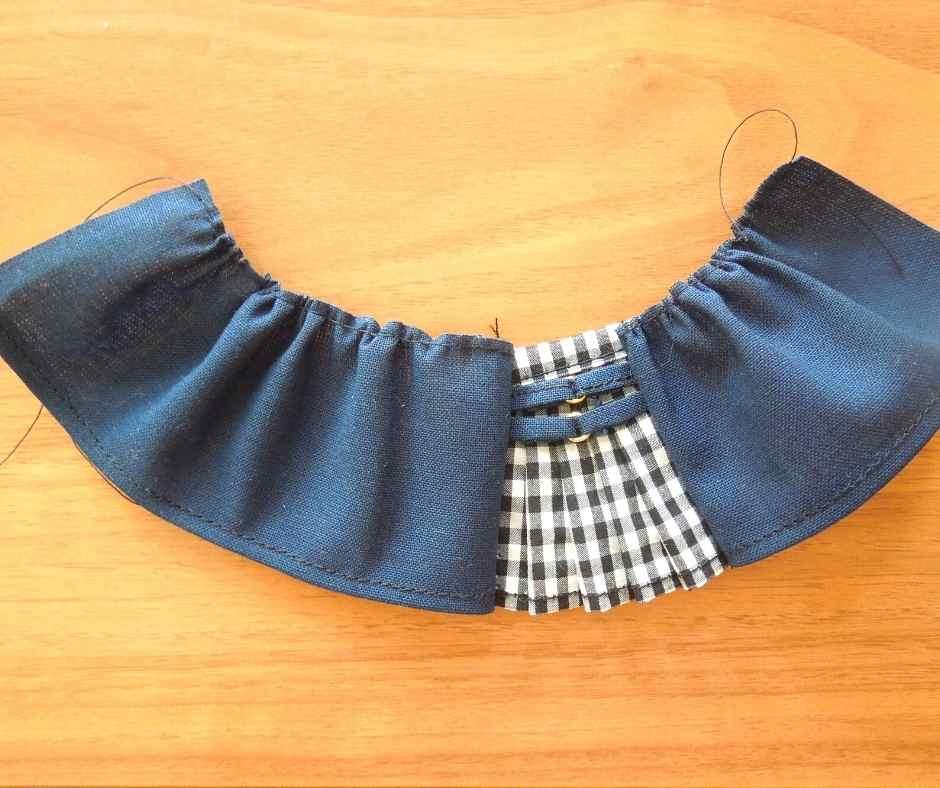 スカートを縫って繋げる