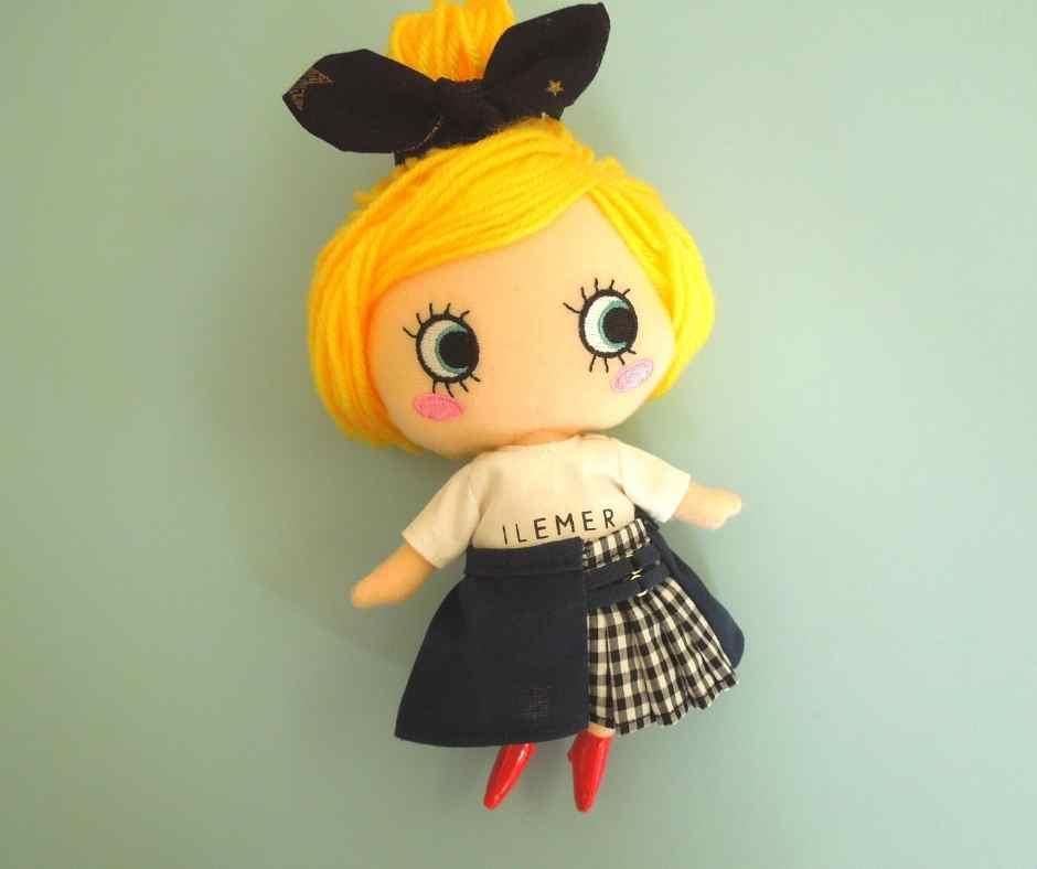 イーマリーサイズの切り替えスカート